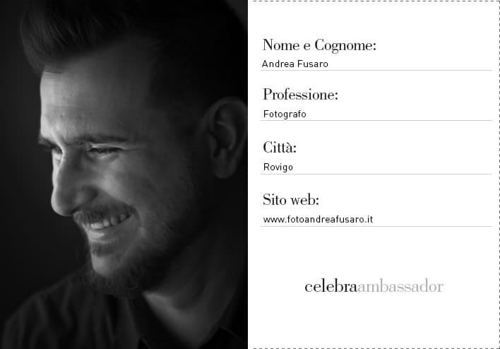andrea fusaro ambassador2 Fotografo Matrimonio   Ambassador Celebra Album Libro