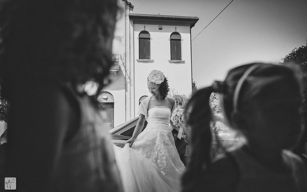 12 arrivo sposa chiesa Marcon