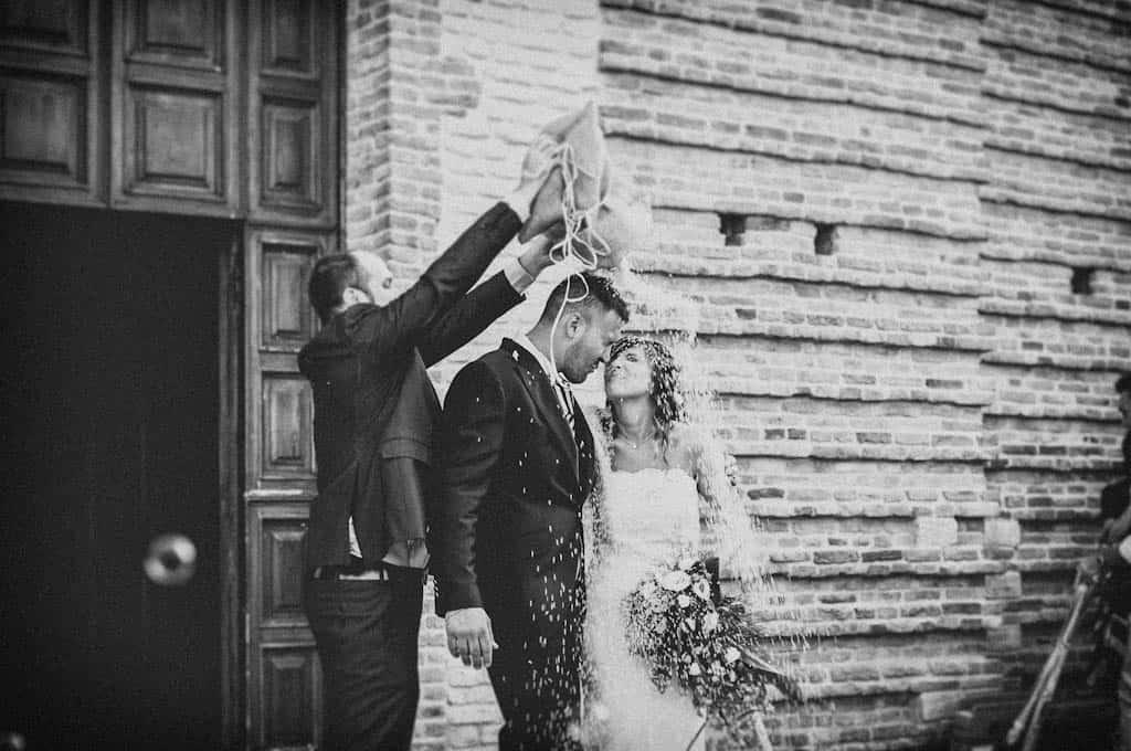 22 lancio del riso sposi Laura + Marco | Matrimonio a Rovigo