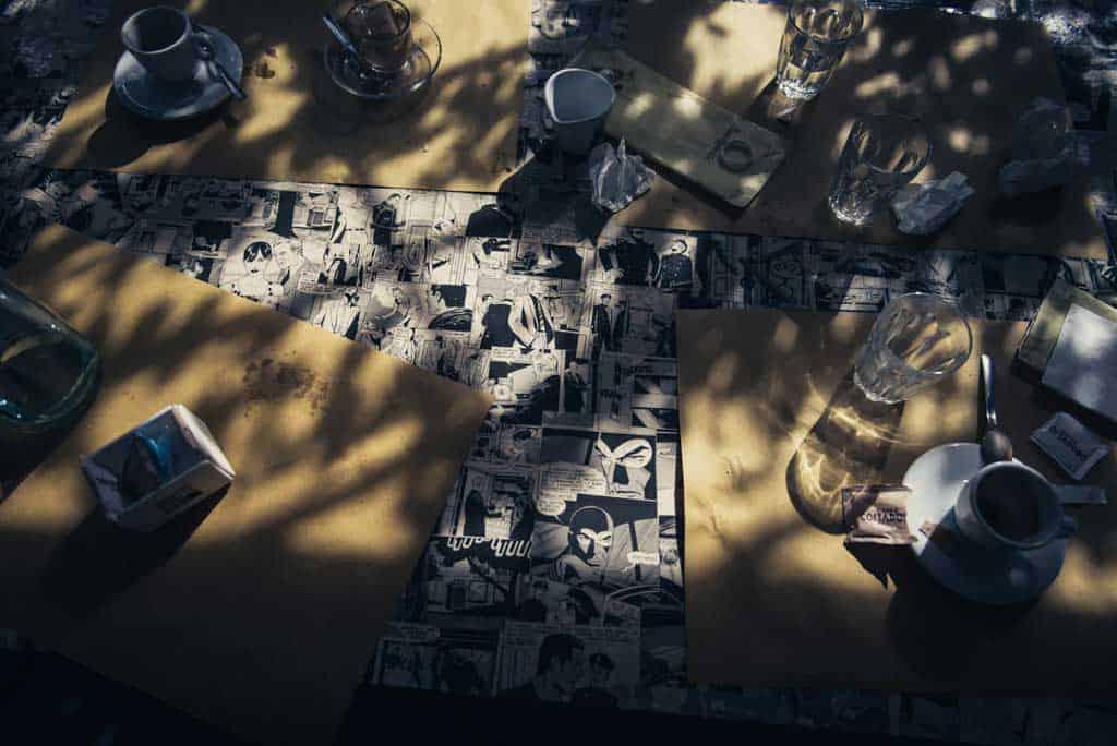 12 tovaglie diabolik Alessandra e Michel: fidanzati a torino