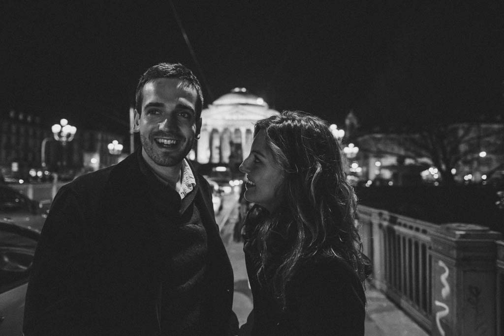 35 fidanzati servizio fotografico notturna Alessandra e Michel: fidanzati a torino